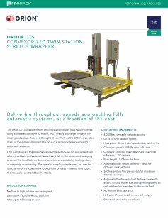 CTS Conveyorized Twin Station Flyer download
